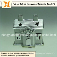 Ion Plating House forma de chimenea de cerámica para la decoración de Navidad, (decoración del hogar)