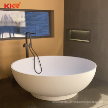 Custom design small sizes large space round stone bathtub