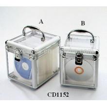 alta calidad 100 y 80 CD discos aluminio DVD box con panel acrílico transparente como paredes por mayor