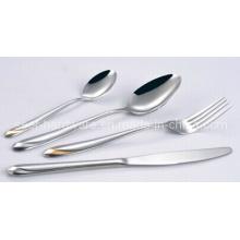 Edelstahl Löffel Gabel Messer Besteck Set (SE015)