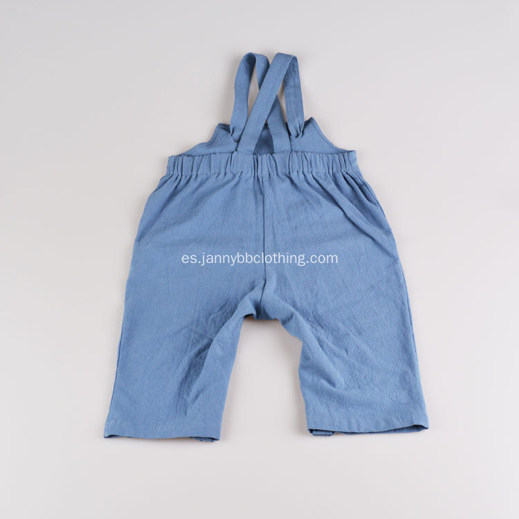 Venta al por mayor Baby Summer Blue Cotton Crepe Fabric Romper