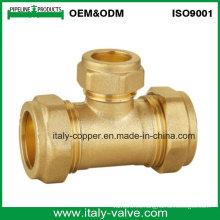 OEM y ODM Calidad latón compresión reductor Tee (AV70028)