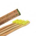 Ensemble de voyage de brosse à dents en bambou, paquet de 4
