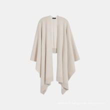 2020 new design women wool cashmere open poncho
