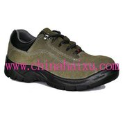 PU injected outsole safety protective shoes