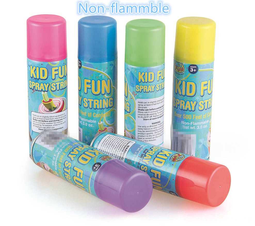 Nie łatwopalny Kid Fun Spray String 3.0 oz