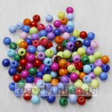 4MM Solid color loose beads pony seed beads wholesale