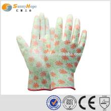13 Gauge nylon pu palm coating gloves
