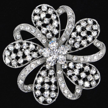 fashion rhinestone brooches Jewelry elegant flower shining crystal pins for Women wholesale bridal jewelry