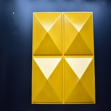 Panel de pared de decoración 3D con diamante