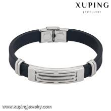 Pulsera-16-xuping pulseras de los hombres de acero inoxidable al por mayor de joyería de moda