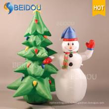 Снежный глобус человека Рождественские украшения Снеговик дерево Надувные рождественские украшения
