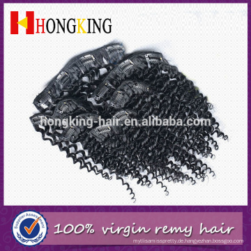 100% reines Menschenhaar kein Verschütten keine Verwicklung indische verworrene lockige remy Haarverlängerung
