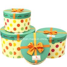 Personalizado de impresión de papel de cartón regalo de embalaje de cajas redondas