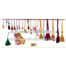 borlas coloridas para decoração
