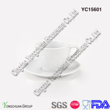 Conjunto de Café Espresso Branco Cerâmico