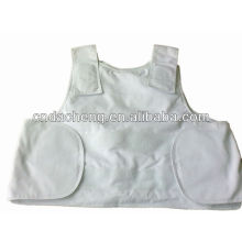 White Internal Bulletproof Vest for Personal Protective