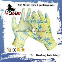 Luva de jardim revestida de nitrila 13G