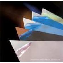 Película de protección para el acero de color