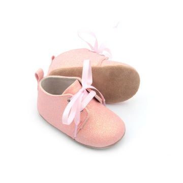 Bayi Oxford Shoes Pink Glitter Girls Baby Footwear