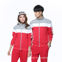 Wholesale couple zipper color hoodie