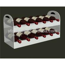 affichage acrylique de vin, support d'affichage de vin, affichage acrylique de bouteille