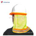 Customized Logo Printing Industrial Face Protection Shield,Full Brim Hard Hat Sun Shade Neck Shield Reflective Stripe Protective