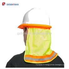 Bouclier industriel de protection de visage d'impression de logo adapté aux besoins du client, plein chapeau de pare-soleil de pare-soleil de bouclier de nuque protecteur protecteur de bande protectrice