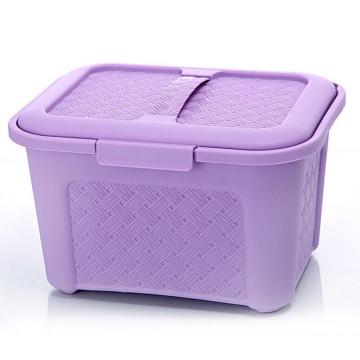 Weave Design Caixa de armazenamento de plástico com alça (SLSN006)