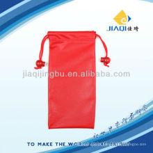 Bolsa de óculos de sol com material de couro