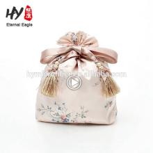 Bolso de satén con cordón de la joyería del estilo de la moda para ventas al por mayor