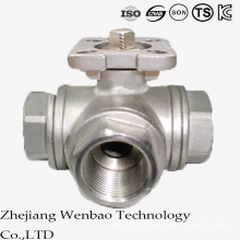 ISO Reduced Port Stainless Steel Ball Valve with Platform