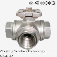 Válvula de esfera de aço inoxidável porto reduzida ISO com plataforma