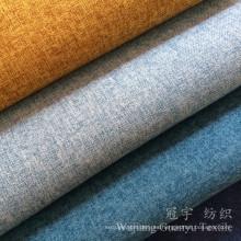Tela de lino del sofá del poliéster del tacto de la ropa de lino para la decoración interior