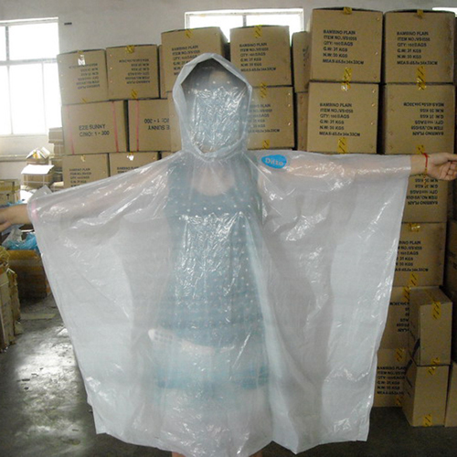 Emergency white color Rain Poncho