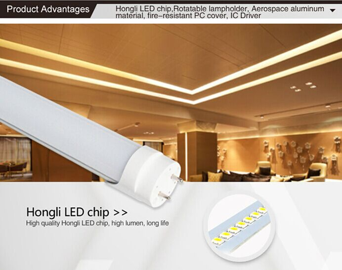 Removable lamp holder T8 led tube 1200mm 18W LED bulb light