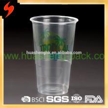 Aduana llévese 11oz taza de plástico desechable de impresión clara