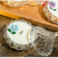 Scented natural Essential oil Soy wax candle in crystal glass holder