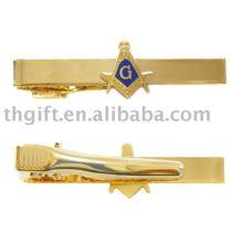 Acabamento de ouro em metal, grampos de gravata de esmalte macio