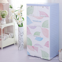 Fashionable Plastic Drawer Wardrobe Cabinet (206063)