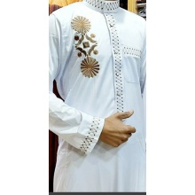 Men's Autumn  Long Sleeve Casual Muslim Thobe