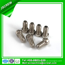 Cross Recess White Nickel Plated Cap Head Machine Screws
