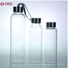 Botella promocional del deporte del agua Handblown con la tapa del tornillo