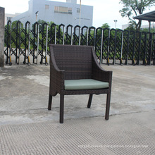 Width outdoor rattan armchairs with cushion