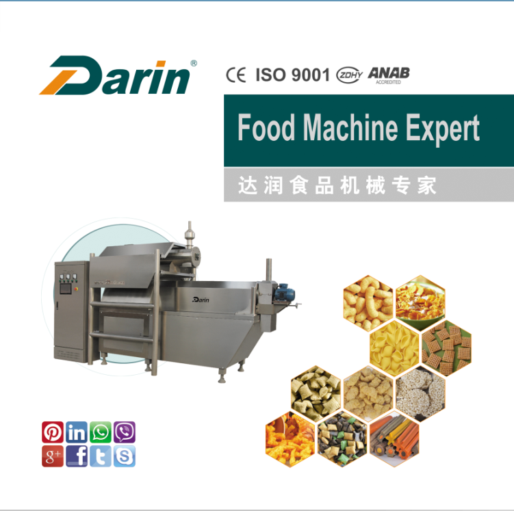Double Screw Puffed Corn Extruder Production Line