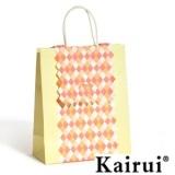 Brown Grids Design Clamshell Paper Bag KR093-7