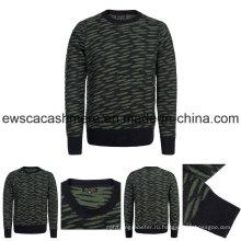 Мужская высокое качество чистый Кашемировый свитер с узорами