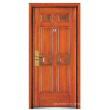 Puerta de seguridad de madera de acero (FXGM-A106)
