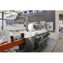 Máquina de biselamento e polimento de vidro de 9 fusos