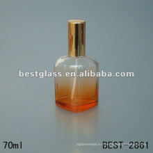 новая конструированная прессформа стеклянной бутылки дух с спрейером и оранжевый алюминиевой крышкой 70ml